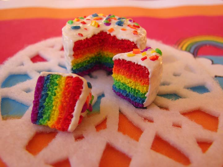 Recipe for rainbow cake!