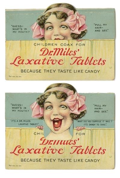 laxative tablet vintage