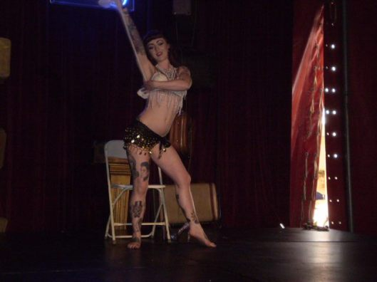 Member of local burlesque troupe Hell's Belles