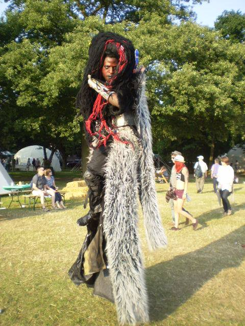 A man on stilts - I liked him, he reminded me of a Neverwhere character