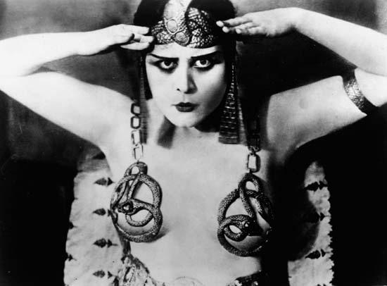 Theda Bara, the exotic beauty from Cinci...uh, Egypt